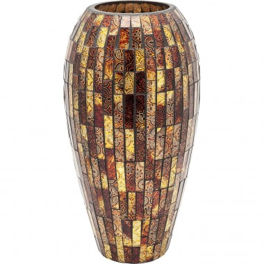 Vase Mosaico Brown 40cm Kare Design