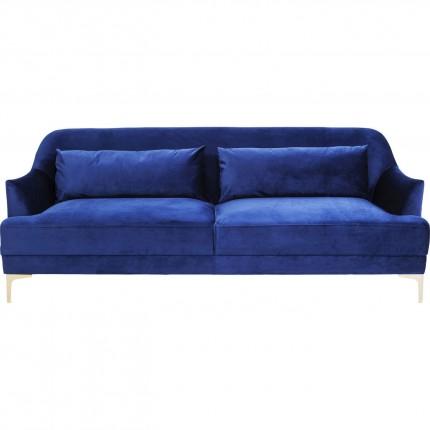 Sofa Proud 3-zitsbank fluweel blauw Kare Design