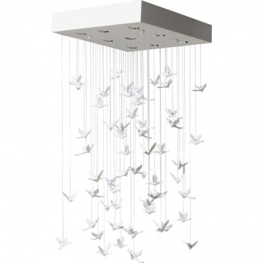 Pendant Lamp Flying Birds White Kare Design