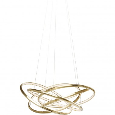 Pendant Lamp Saturn LED Gold Big Kare Design