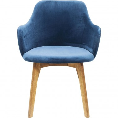 Chair with Armrest Lady Velvet Bluegreen Kare Design