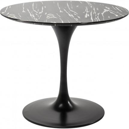 Table Invitation ébène & noir 90cm Kare Design