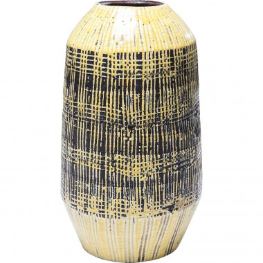 Deco Vase Muse Stripes Yellow 29cm Kare Design