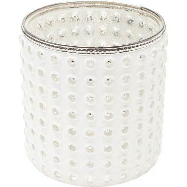 Tealight Holder Polar Dots 14cm Kare Design