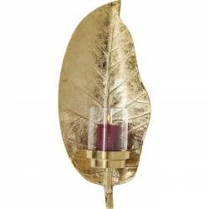Bougeoir Leaf doré Kare Design