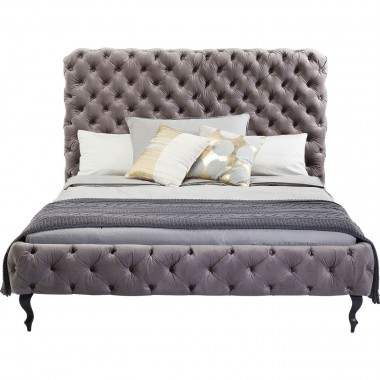 Bed Desire High Silver Grey 160x200 cm Kare Design