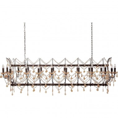 Pendant Lamp Chateau Crystal Rusty Deluxe Kare Design