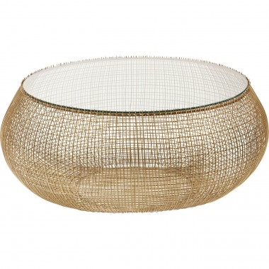 Coffee Table Cesta Gold Kare Design