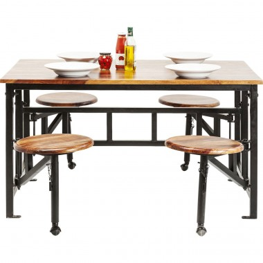 Table+Stool Space 5-part 140x89cm Kare Design