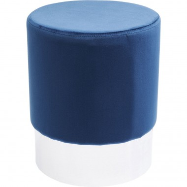 Tabouret Cherry bleu et chrome Kare Design