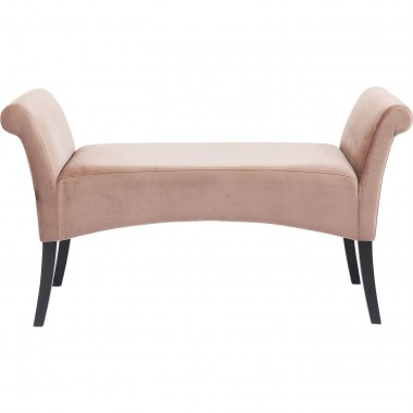 Banc Motley velours rose Kare Design