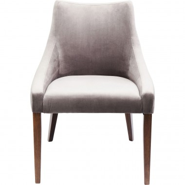 Chair Mode Velvet Grey Kare Design