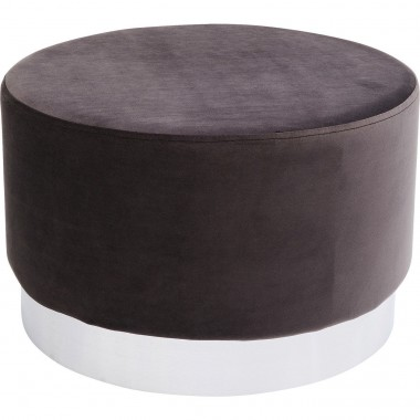 Stool Cherry Dark Grey Silver Ø55cm Kare Design
