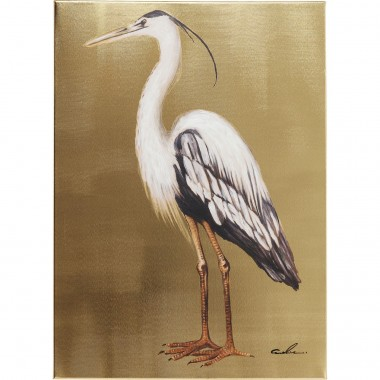 Picture Touched Heron Left 70x50cm Kare Design