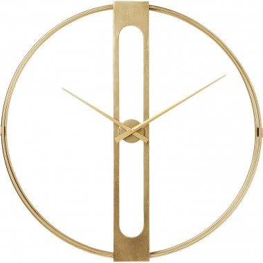 Wall Clock Clip Gold Ø107cm Kare Design