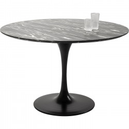 Table Invitation Set Ebony Black Ø120cm Kare Design