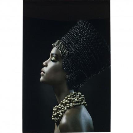 Picture Glass Royal Headdress Profile 150x100cm Kare Design