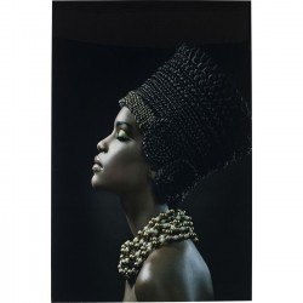 Tableau en verre Royal Headdress Profile 150x100cm Kare Design