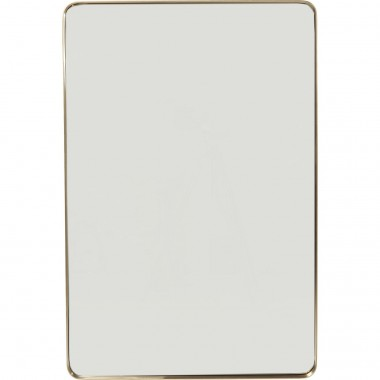 Mirror Curve Rectangular Brass 120x80cm Kare Design