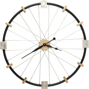 Wall Clock Spoke Wheel 80cm Kare Design
