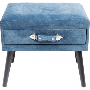 Tabouret Drawer bleu Kare Design