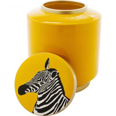 Deco Jar Zebra  Yellow 25cm Kare Design