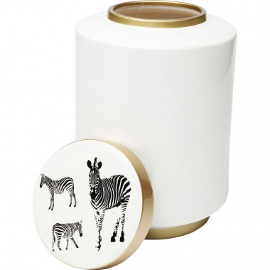 Deco Jar Zebra White 33cm Kare Design