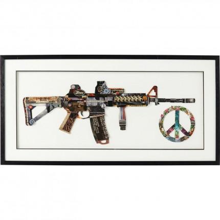 Tableau Frame Art Peace No War 50x100cm Kare Design