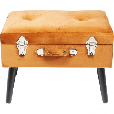 Tabouret Suitcase orange Kare Design
