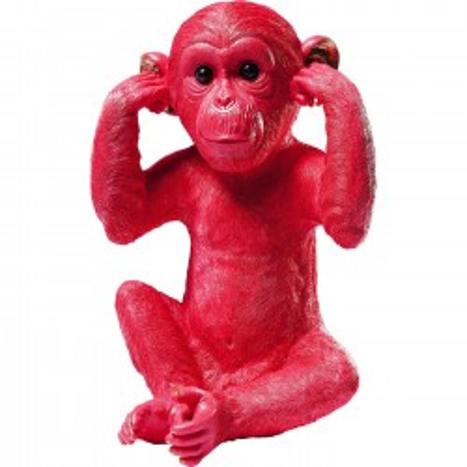 Tirelire Monkey Kikazaru rouge Kare Design