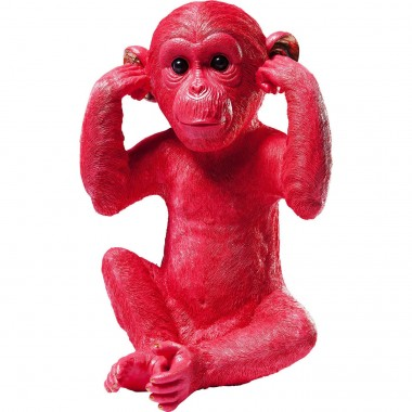 Money Box Monkey Kikazaru Red Kare Design