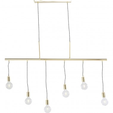 Pendant Lamp Pole Brass Six Kare Design