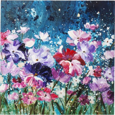 Picture Touched Flower Garden 100x100cm Kare Design