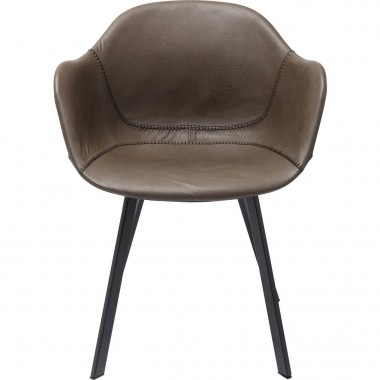 Chair with Armrests Lounge Grey Kare Design