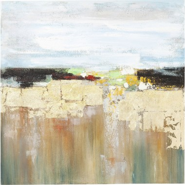 Oil Painting Abstract Landscape 120x120cm Kare Design