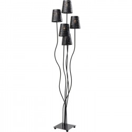 Floor Lamp Flexible Black Cinque Kare Design