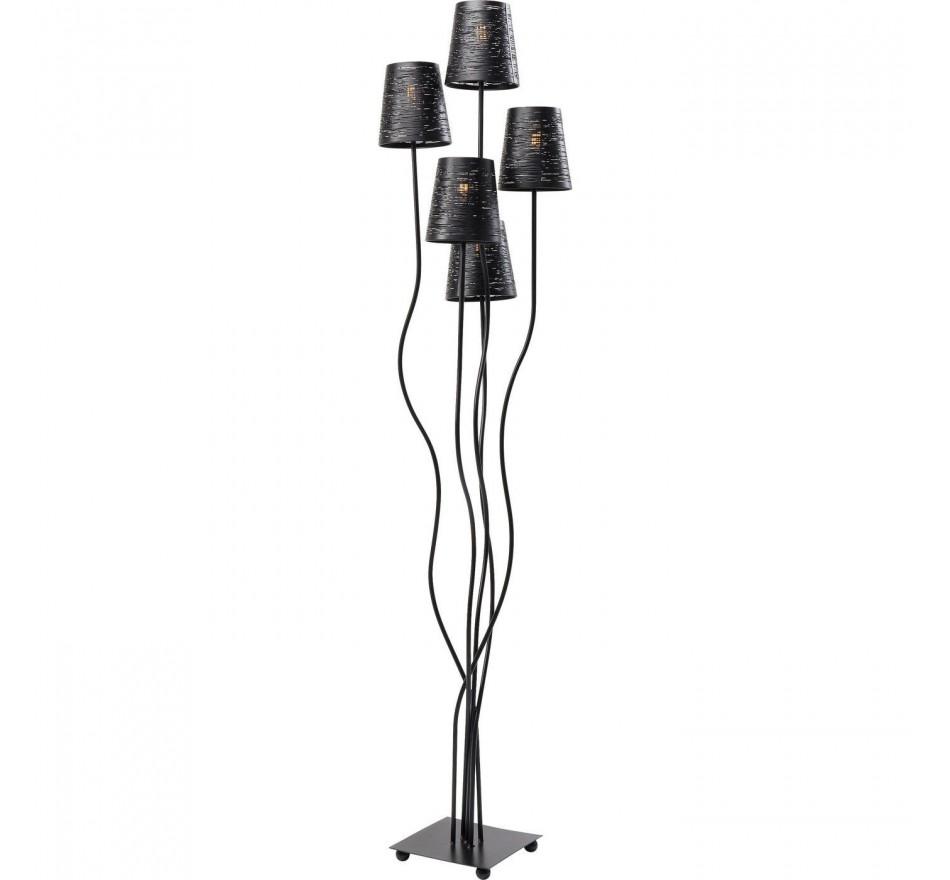 Lampadaire Flexible noir Cinq Kare Design