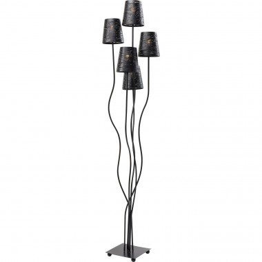 Floor Lamp Flexible Black Cinque Kare Design