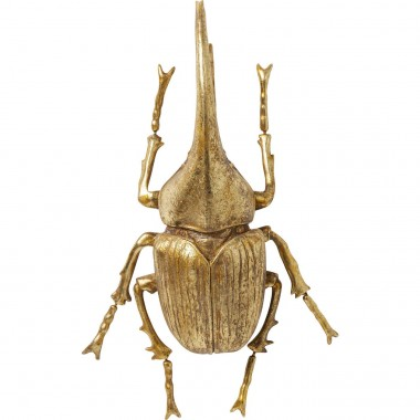 Wall Decoration Herkules Beetle Gold Kare Design