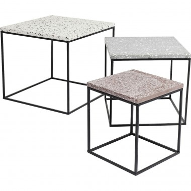Side Table Terrazzo Square (3/Set) 48x48cm Kare Design