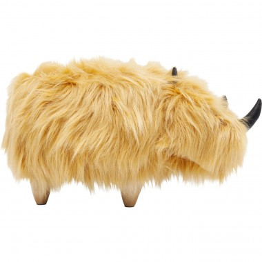 Stool Rhino Fur Brown Kare Design