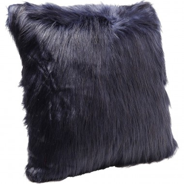 Cushion Ontario Fur Dark Blue 60x60cm Kare Design