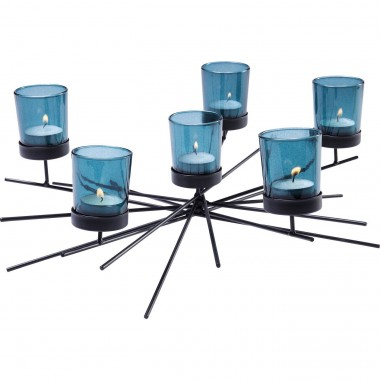 Tealight Holder Micado Turquoise Six Kare Design