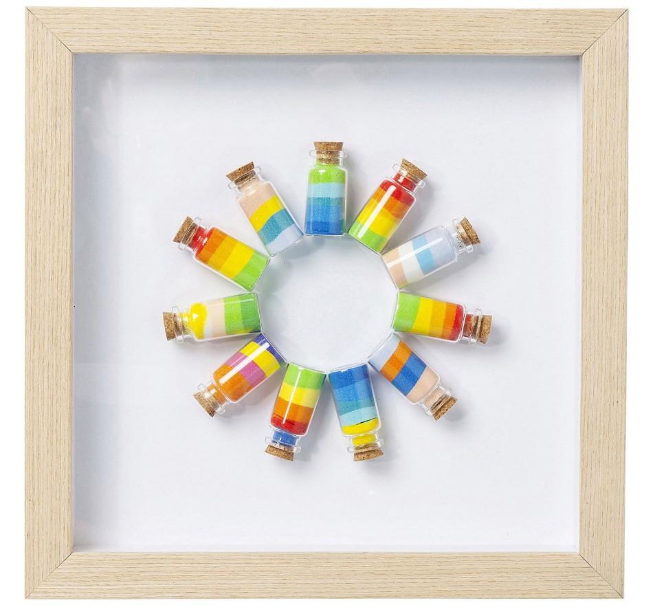 Tableau Frame Rainbow Jars Circle Kare Design