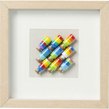 Picture Frame  Rainbow Jars Square Kare Design