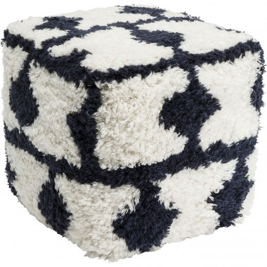 Pouf Shaggy Check 45x45cm Kare Design