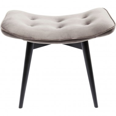 Stool Black Vicky Velvet Grey Kare Design