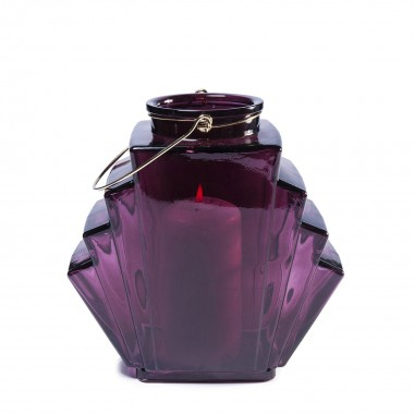 Lantern Noble Wire Purple 12cm Kare Design
