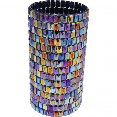 Vase Rainbow Diamonds Round 22cm Kare Design