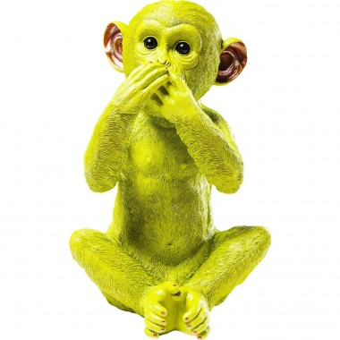 Money Box Monkey Iwazaru Lime Kare Design